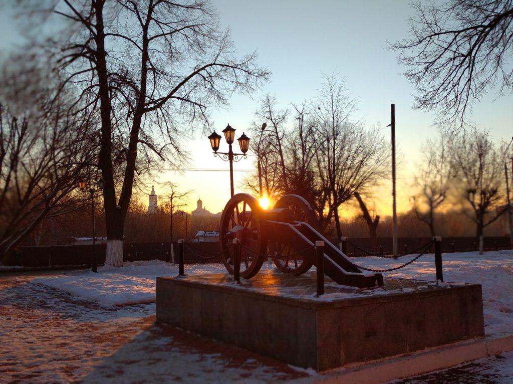 Закат в Кировском районе.